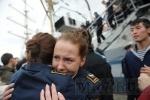 Фоторепортаж: ««Мир» пришвартовался у набережной Лейтенанта Шмидта»