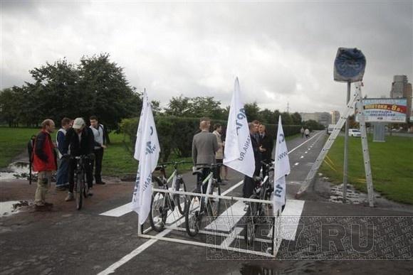 В Купчино открыли новую велодорожку: Фото