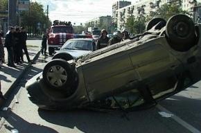 В Красногвардейском районе машина перевернулась при ДТП