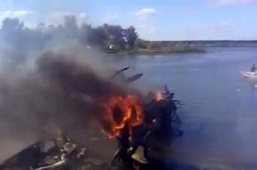 В сети появилось видео с места катастрофы Як-42 под Ярославлем