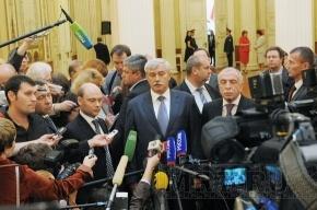 Губернатор Петербурга готов во всем поддерживать «Единую Россию»