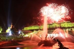 В Петергофе закрыли фонтаны