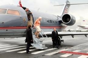 Датская королева прилетела в Петербург (фото)