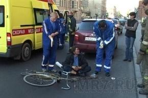 ДТП на Кондратьевском: велосипедист протаранил «Шкоду»