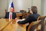 Интервью Путина государственным телеканалам: самое интересное: Фоторепортаж