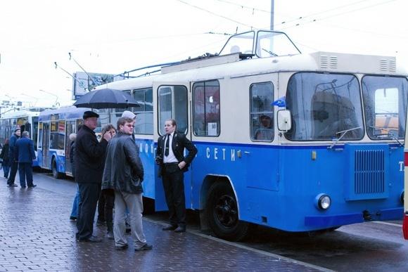 В Петербурге прошел парад троллейбусов (фото): Фото