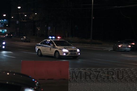 На Ушаковской развязке полиция ловила мотоциклиста: Фото