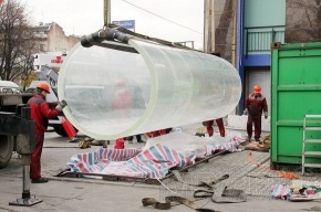 В петербургском океанариуме установили новый 7-метровый аквариум