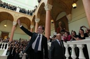Президент – студентам журфака МГУ: «Как-нибудь еще заеду»