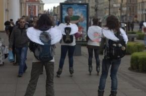 По Петербургу пролетели «Ангелы добра»