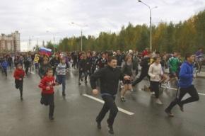 В Приморском районе прошел массовый забег «Бежим вместе!»