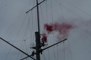 Анархисты устроили акцию на крейсере «Аврора»