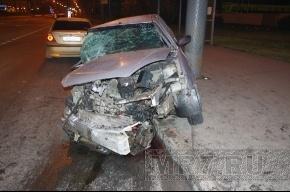 В Красногвардейском районе столкнулись три машины