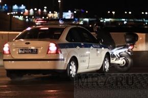 На Ушаковской развязке полиция ловила мотоциклиста