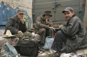 Петербургские бездомные пригласят на свой праздник Медведева и Путина