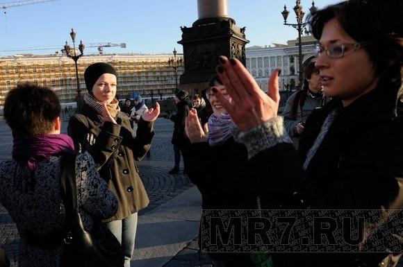 Защитников однополой любви  побили на Дворцовой площади: Фото