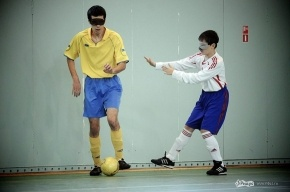 Турнир по футболу слепых: фоторепортаж