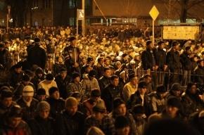Курбан-байрам в Петербурге: пять тысяч мусульман собрались помолиться на «Горьковской»