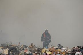 Пожар на свалке потушили только через два дня
