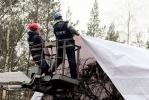 Главная ёлка Петербурга уже стоит на Дворцовой: Фоторепортаж