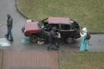Режиссер сериала «Литейный, 4» сжег машину на Васильевском острове: Фоторепортаж