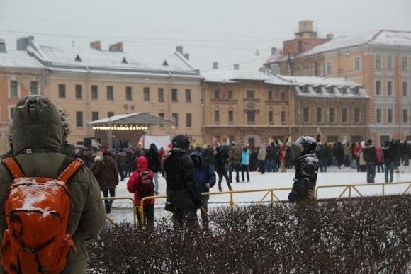 Фотоотчёт с митинга на площади Сахарова: Фото