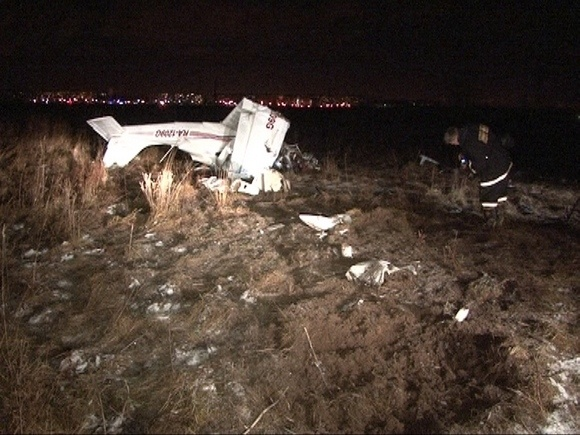 Под Петербургом упал такой же самолет, как под Ростовом: Фото