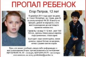Пропавший 12-летний мальчик найден живым
