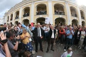 Закончилась акция у Гостиного двора. Задержано 70 человек