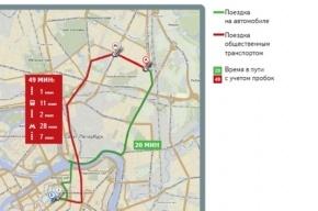 Яндекс провел исследование о загруженности дорог Петербурга