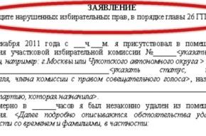 Жалобы о нарушениях на выборах: шаблоны заявлений