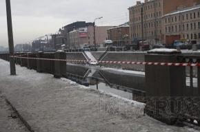 Иномарка упала в Обводный канал