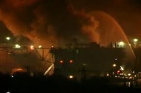 В Мурманской области горит атомная подлодка (видео)
