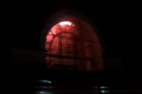 Пожар на вокзале Зеленогорска: видео с места ЧП