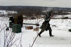 В деревне Порожки вчера прорывали блокаду (фото)