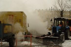 Прорыв теплосети на Костюшко полностью устранили