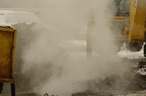В Московском районе произошел  разрыв трубы теплотрассы