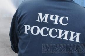 В центре Петербурга упала в реку машина