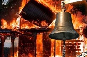 Под Омском в пожаре сгорела семья с тремя детьми