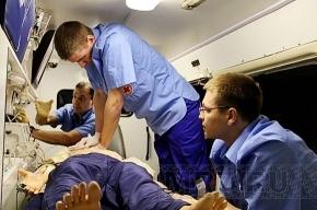 Самоубийца промахнулся мимо растянутого спасателями МЧС полога