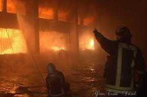 В Красногвардейском районе – большой пожар на складе