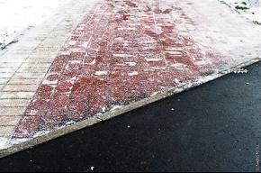 Плитка покрывается льдом  быстрее, чем асфальт