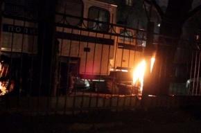 Полиция Петербурга устанавливает причины возгорания автозака
