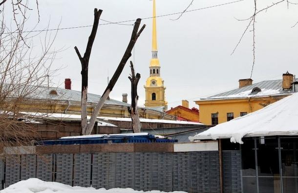 На территории Петропавловской крепости появилась уродливая постройка