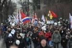 На митинге в Петербурге приняли новую резолюцию с требованиями к властям: Фоторепортаж