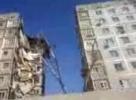 Целый подъезд девятиэтажного дома обрушился в Астрахани: Фоторепортаж