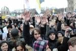 Митинг в Петербурге прошел энергично и закончился мирно: Фоторепортаж
