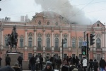 Пожар во дворце Белосельских-Белозерских локализован: Фоторепортаж