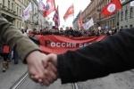 Фоторепортаж: «На митинге оппозиции в Петербурге Удальцов и Навальный потребовали у Путина сдать мандат »