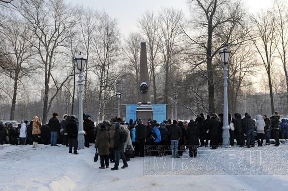 На Черной речке почтили память Пушкина (фото): Фото